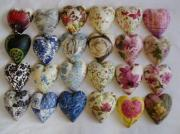 An Assortment of ceramic Pure decoupage Hearts