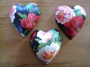 Pure-Ceramic-Decoupage-Heart-Peony-Black-Set-of-three