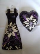 Decoupage dress and Heart set