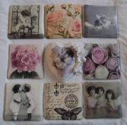 Tiles and Large Vintage Heart Laced Glass finish