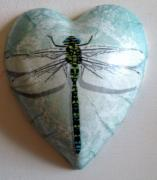 Dragonfly-of-blue-Pure-Ceramic-Decoupage-Heart-